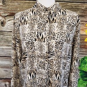 Alfred Dunner leopard print blouse